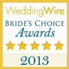 Wedding Wire Brides Choice Award 2013